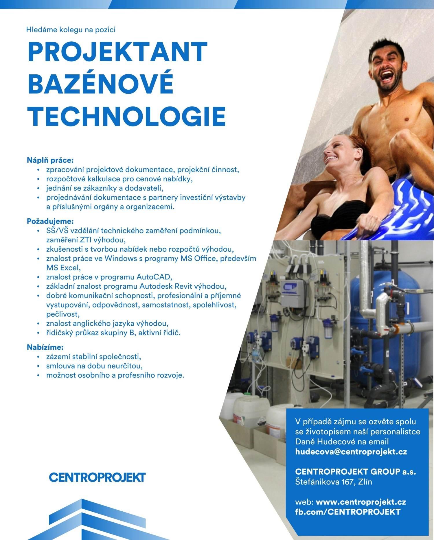 Projektant bazénové technologie _ centroprojekt