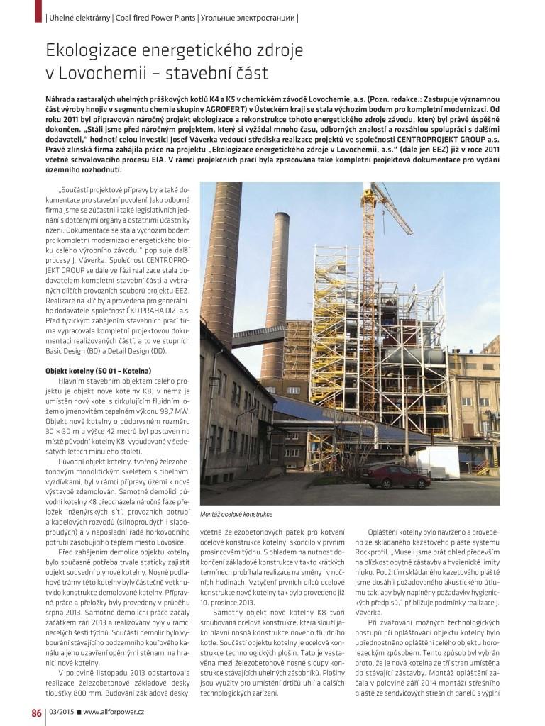 Článek Ekologizace energetického zdroje v Lovochemii 01