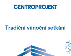 Pozvánka na tradiční vánoční setkání bývalých zaměstnanců Centroprojektu v důchodu - záhlaví