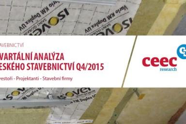 Kvartální analýza českého stavebnictví Q4/2015 s účastí Centroprojektu