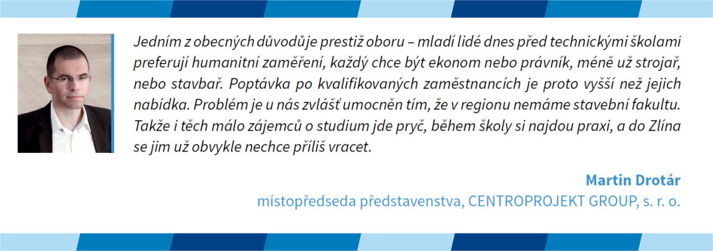 Místopředseda představenstva Centroprojektu Martin Drotár o práci ve stavebnictví pro kvartální analýzu českého stavebnictví CEEC Research Q4/2015