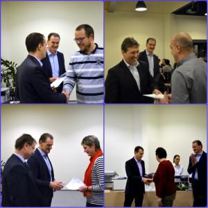 Oceněni byli také za výjimečné pracovní výkony a nasazení i zaměstnanci Centroprojektu