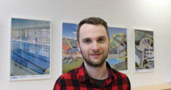 Student David Hráček na stáži v projekční firmě
